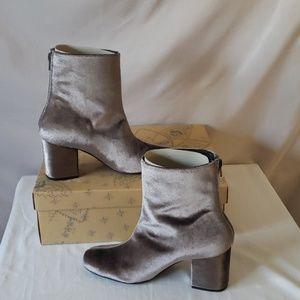 Gray Velvet booties